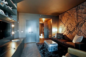 this-sleek-modern-man-cave-in-the-heart-of-chicago-offers-low-lighting-that-wont-take-away-from-the-action-on-the-screen